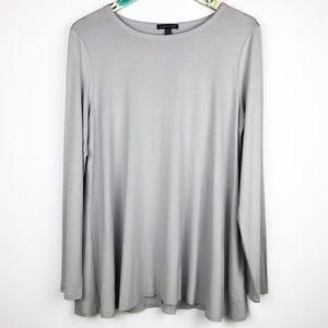Eileen Fisher Long Sleeved Top Light Paloma Grey